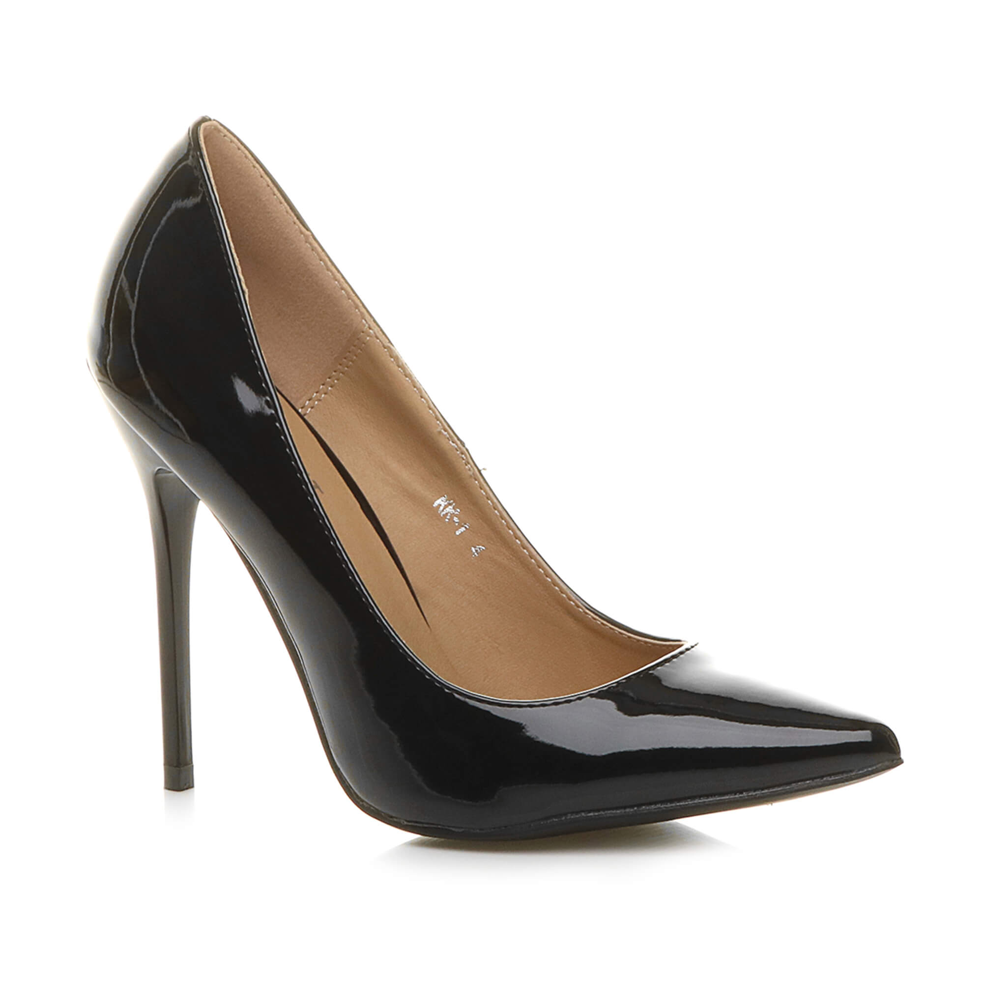 womens ladies pointed contrast high heel smart party work pumps court shoes size ebay. Black Bedroom Furniture Sets. Home Design Ideas