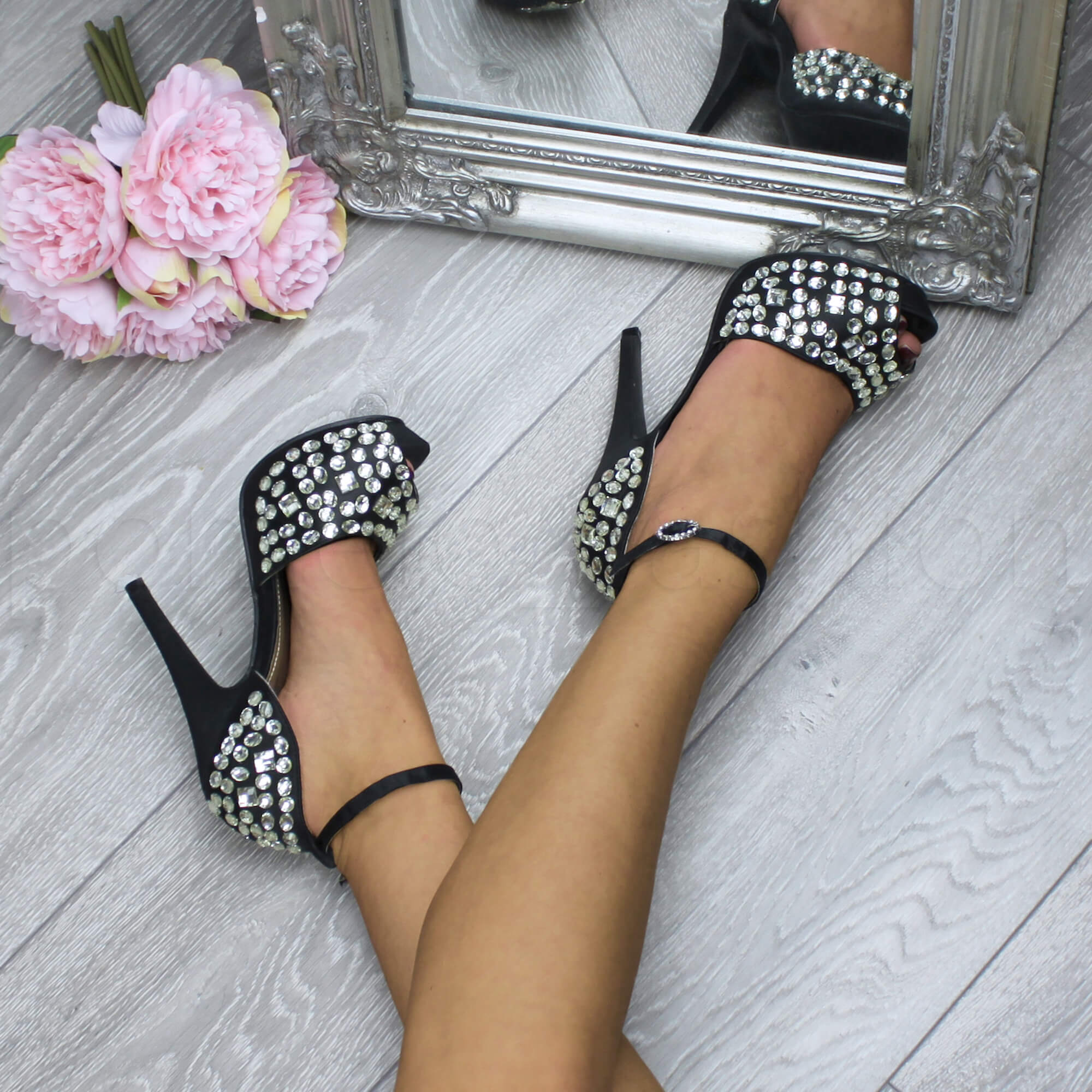 WOMENS-LADIES-HIGH-HEEL-PLATFORM-PEEPTOE-GEM-ANKLE-STRAP-SANDALS-SHOES-SIZE