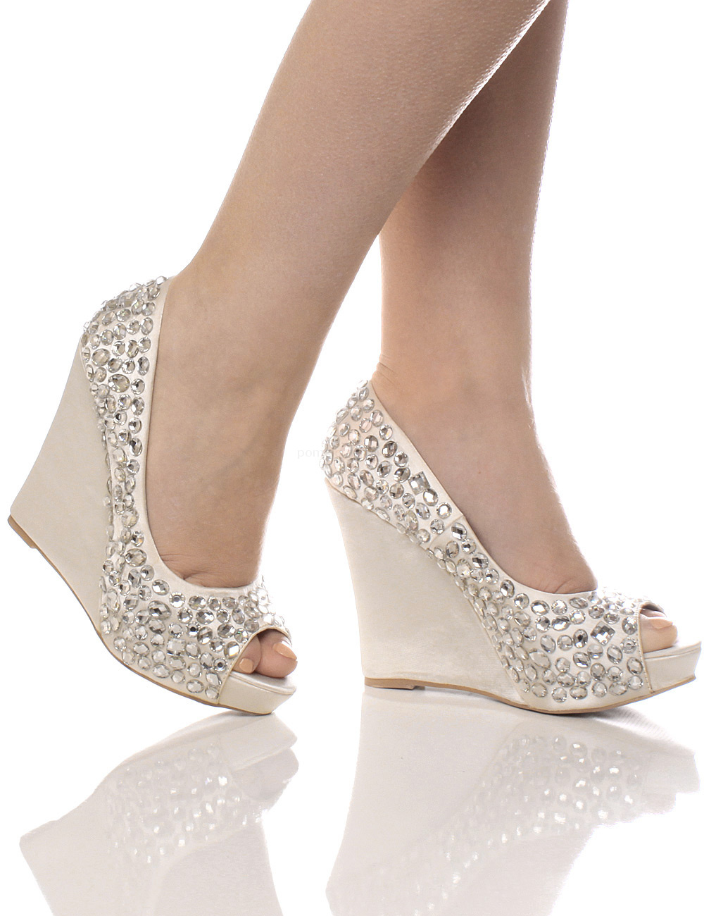 Silver Wedge Prom Shoes Uk