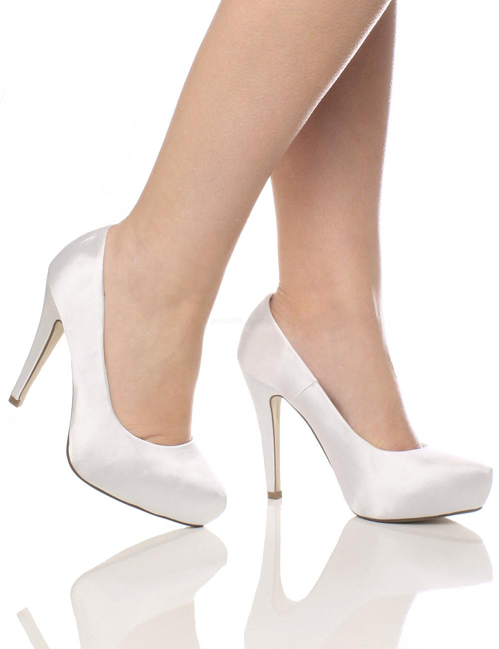 womens ladies bridal wedding prom party high heel platform pumps shoes size ebay. Black Bedroom Furniture Sets. Home Design Ideas