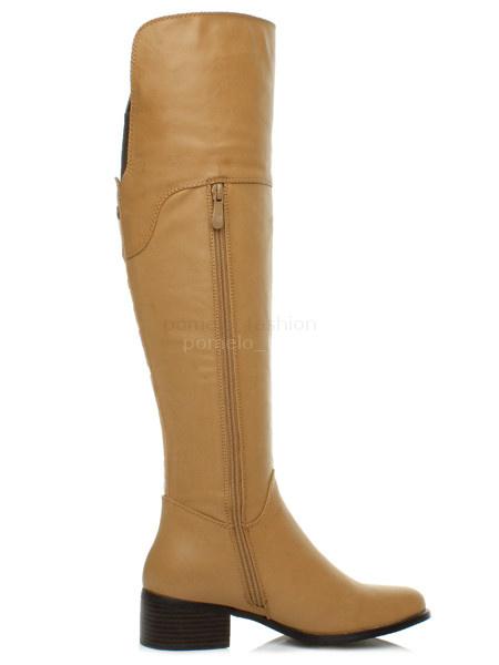 womens winter mid heel zip knee high boots