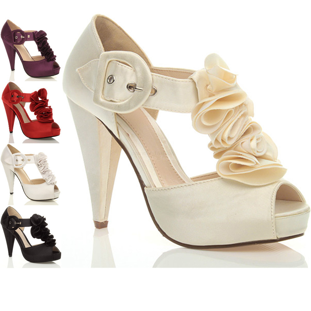 womens high heel platform wedding evening sandals