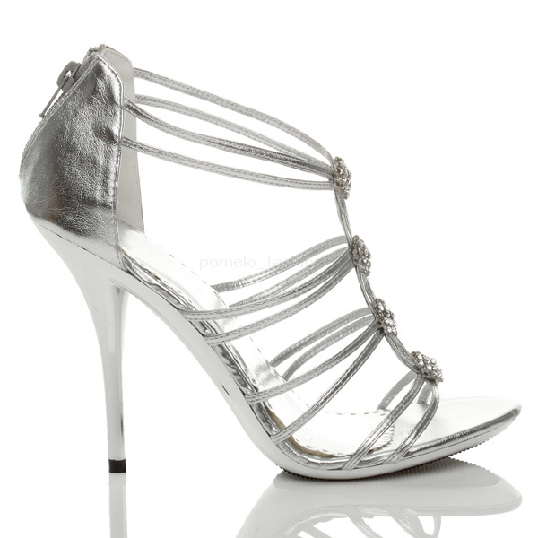 WOMENS-LADIES-HIGH-METAL-HEEL-STRAPPY-DIAMONTE-EVENING-WEDDING-SANDALS-SIZE