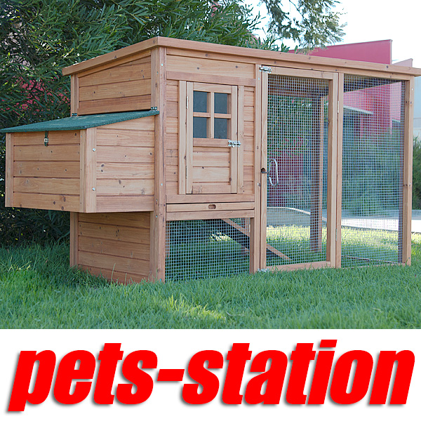 Chicken-Coop-Rabbit-Hutch-Ferret-Cage-Hen-Chook-House-9