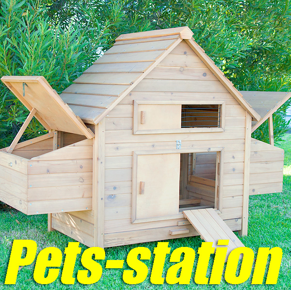 Chicken Coop Rabbit Hutch Ferret Cage Hen Chook House