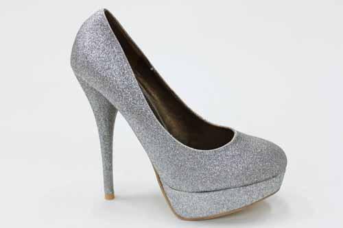 high heels pumps platforms modisch glitzer silber ebay. Black Bedroom Furniture Sets. Home Design Ideas