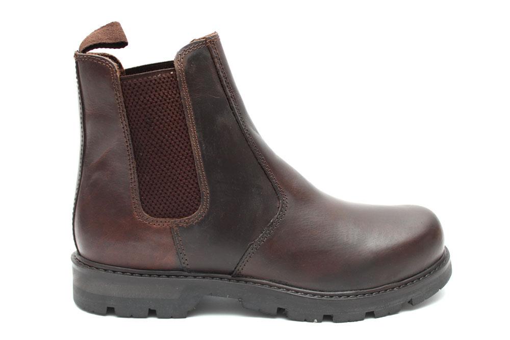 Herren Chelsea-Boots - Knöchelhoch - Weiches Leder - Braun