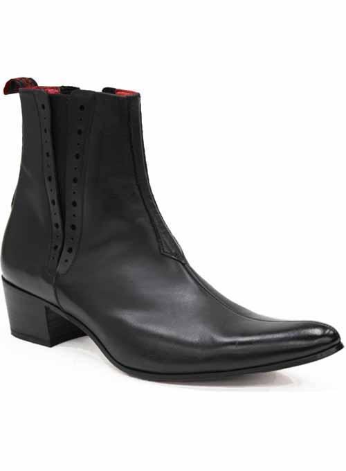 mens jeffery west muse black cuban heel chelsea boots