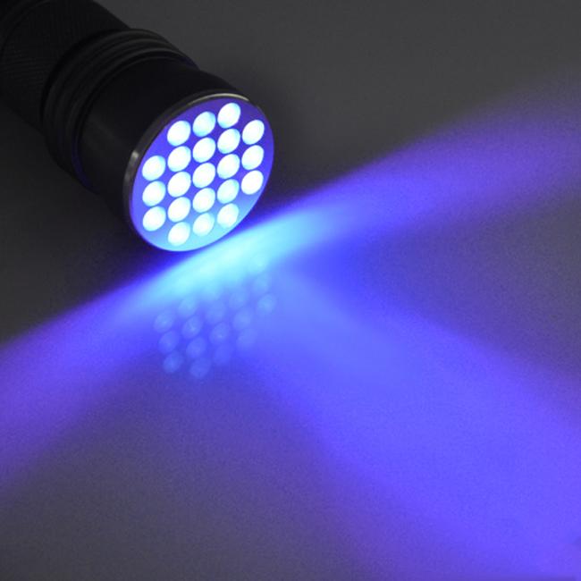 Uk aluminium 21 led uv lampe torche ultra violet blacklight d tection lampe ebay - Lampe torche uv ...