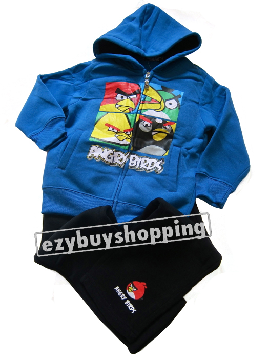 Angry Birds lightweight showerproof jacket from H&M. Fastens with zip up the front. Also has 2 pockets to the front and a zip pocket on the left arm.