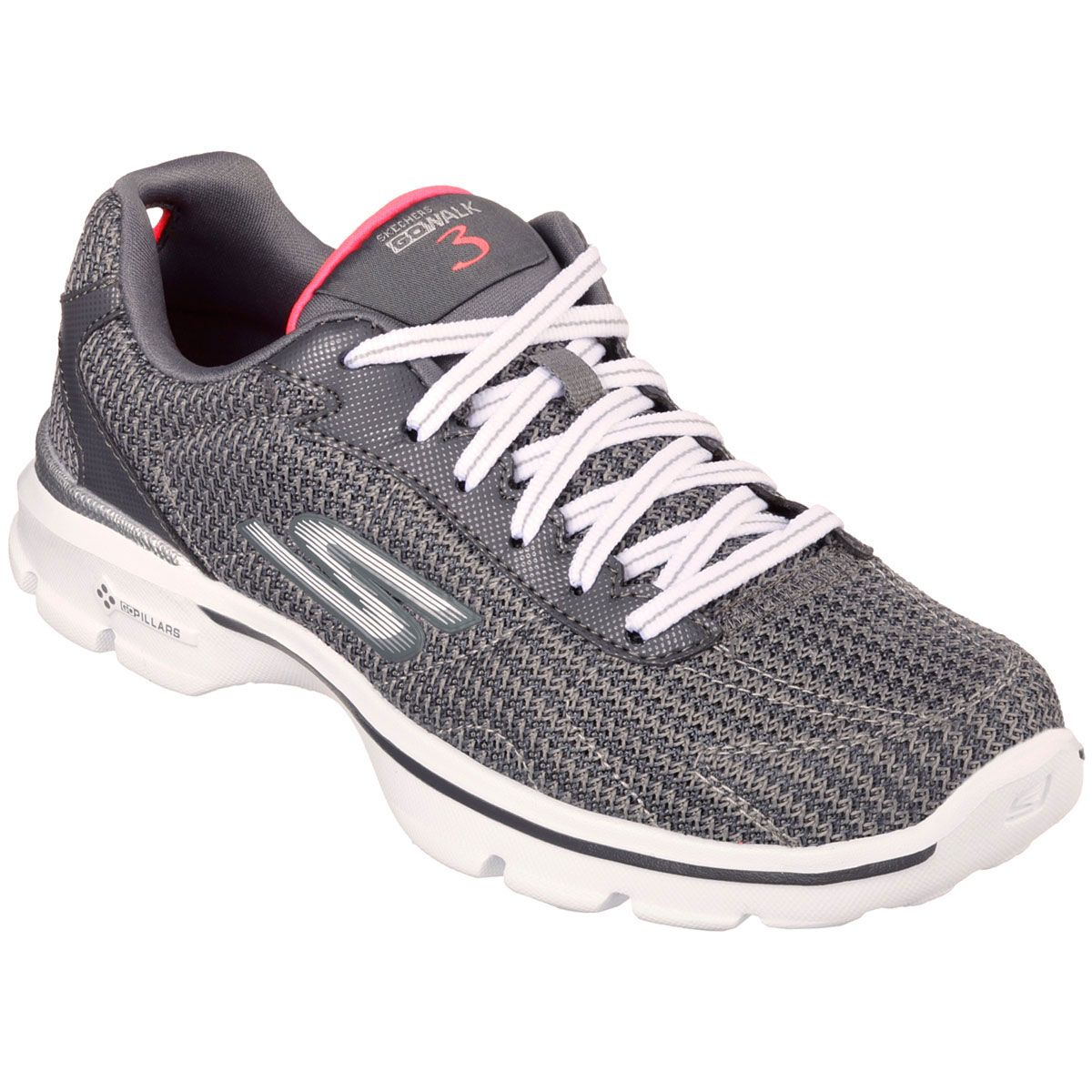 skechers womens go walk 3 fit knit walking shoes