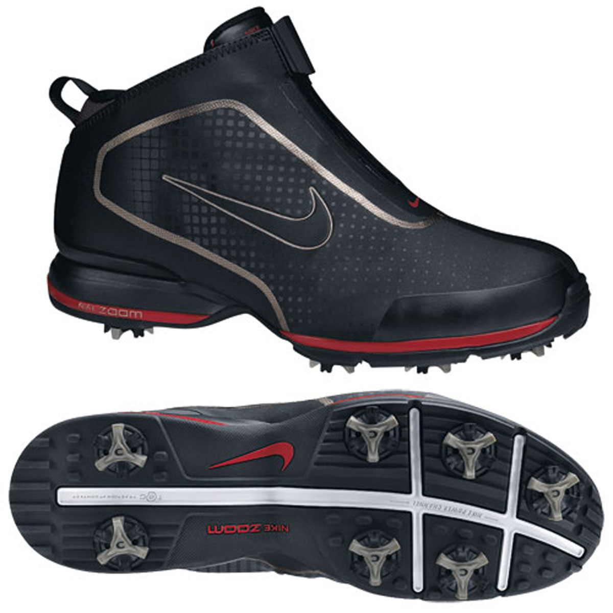 Nike Air Zoom Bandon Golf Boot Shoes - Black | eBay