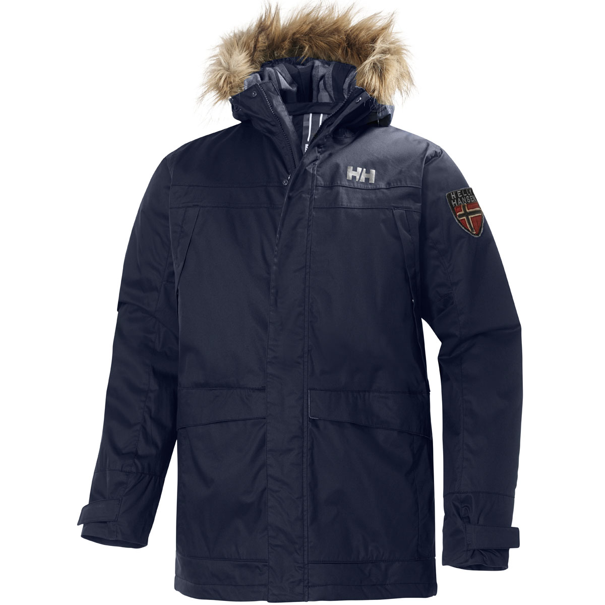 helly hansen mens coastline parka insulated jacket winter thermal hood coat ebay. Black Bedroom Furniture Sets. Home Design Ideas