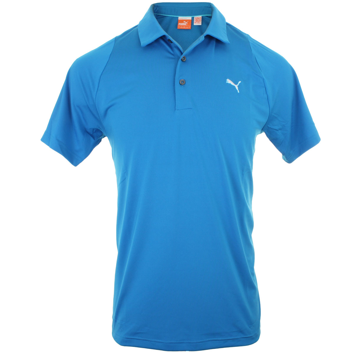 Puma golf mens duo swing golf polo shirt tech performance for Mens puma golf shirts