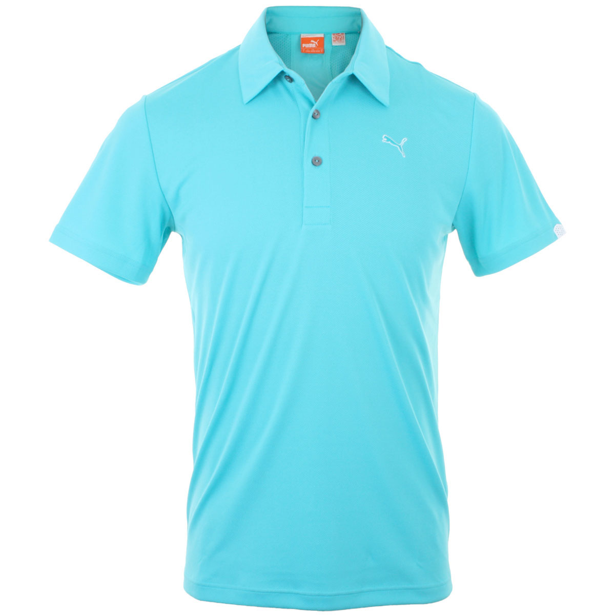Puma golf mens golf tech performance polo shirt coolcell for Mens puma golf shirts