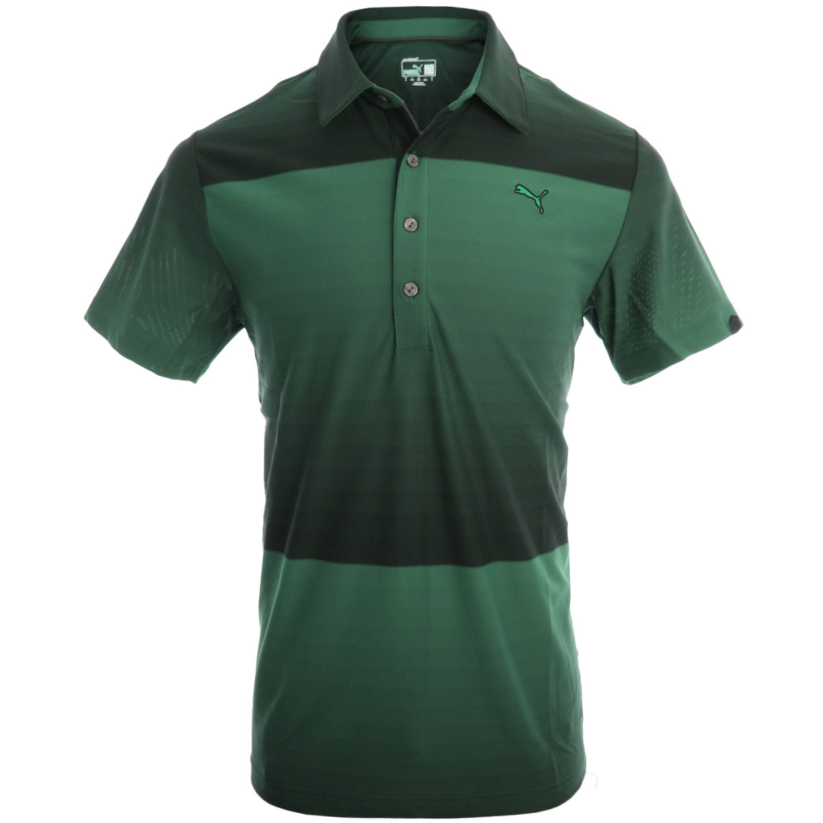 Puma golf 2014 mens ombre stripe polo shirt for Mens golf polo shirts