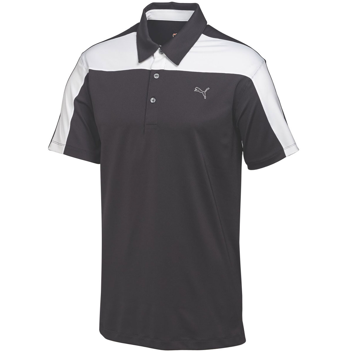 Puma golf mens cb tech golf polo shirt drycell performance for Mens puma golf shirts