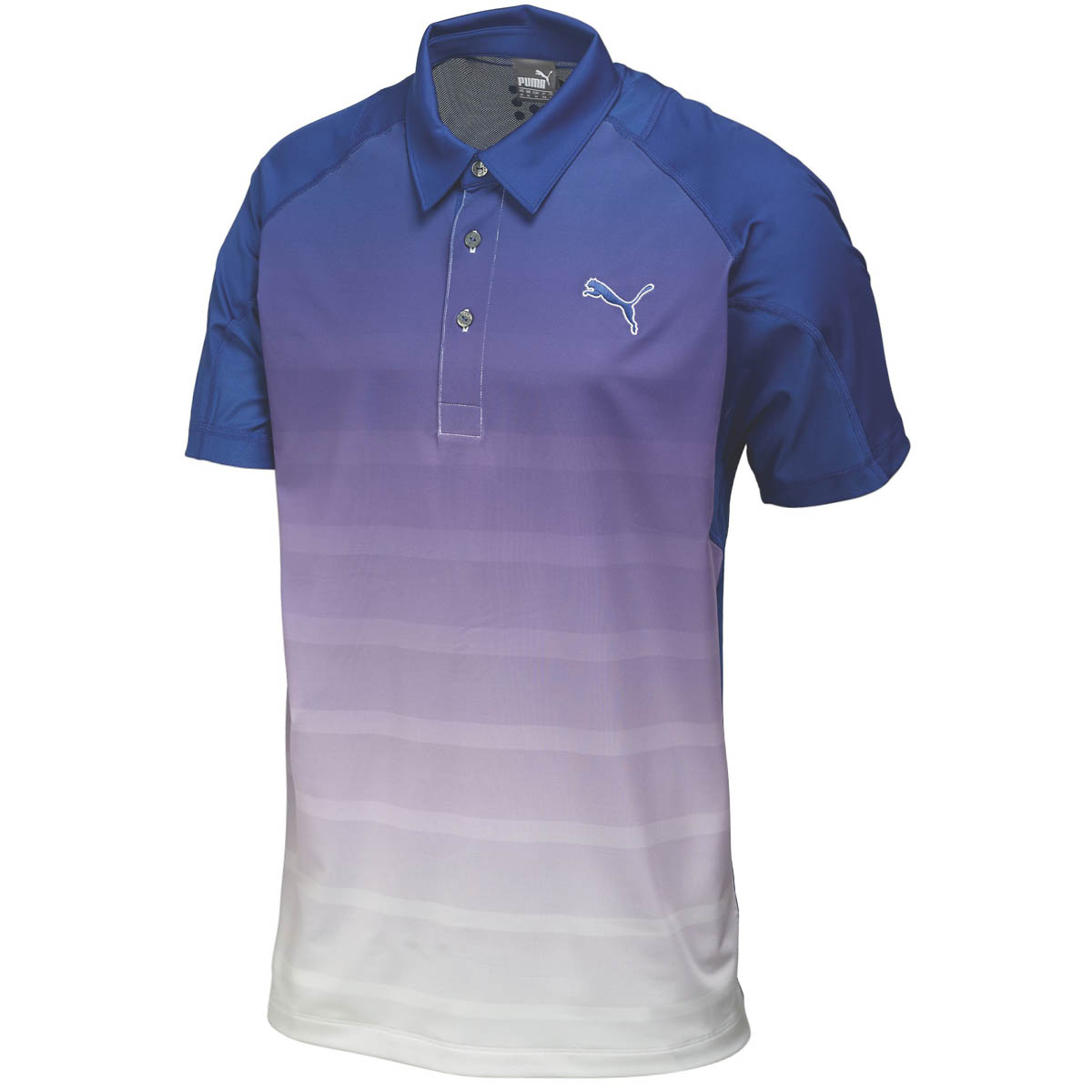 Puma golf mens titan stripe polo shirt 569099 drycell for Mens puma golf shirts