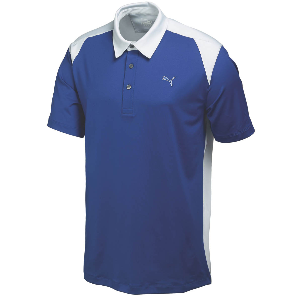 Puma golf mens blocked polo shirt 569107 stretch drycell for Mens puma golf shirts