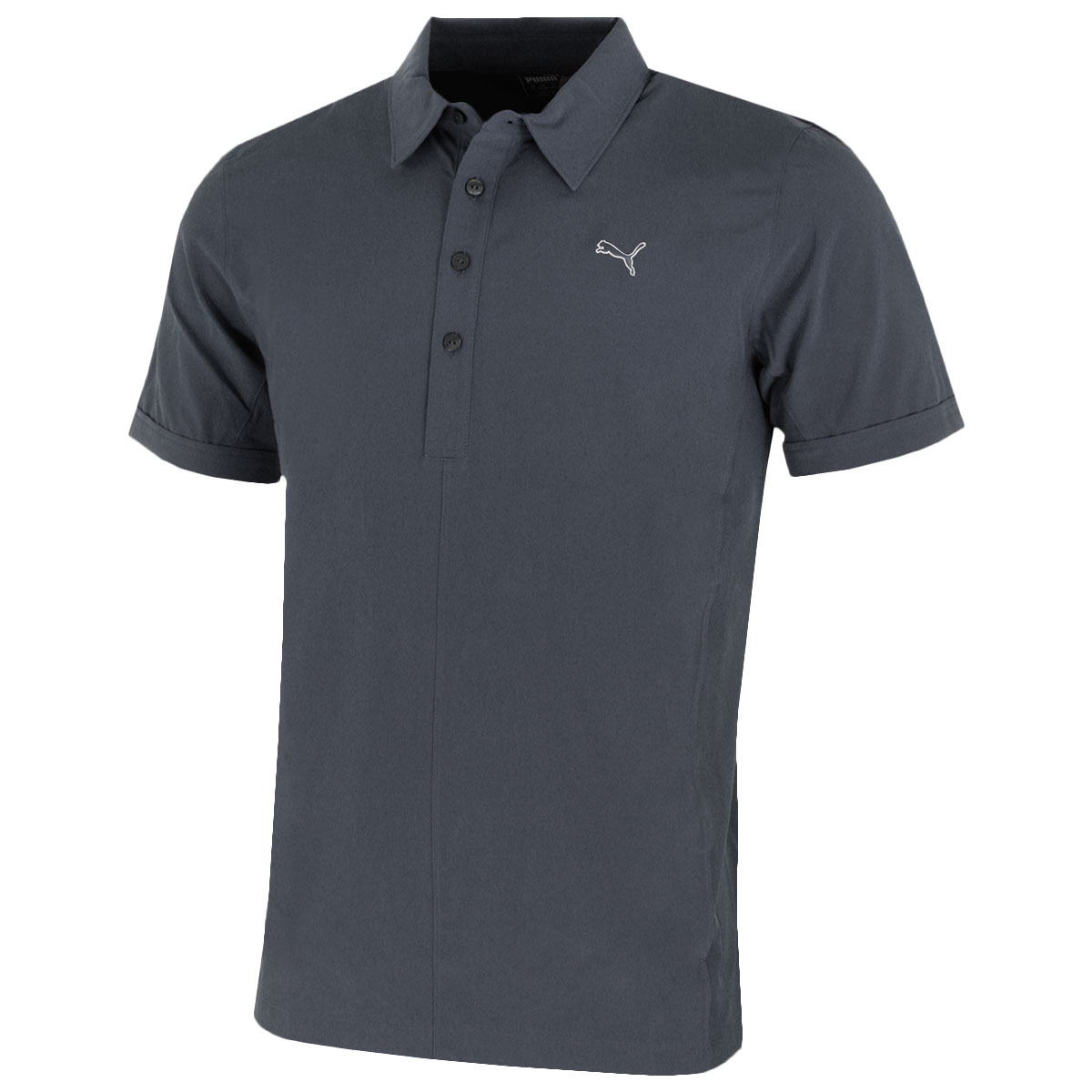Puma golf mens sport woven polo shirt 569112 short sleeve for Mens puma golf shirts