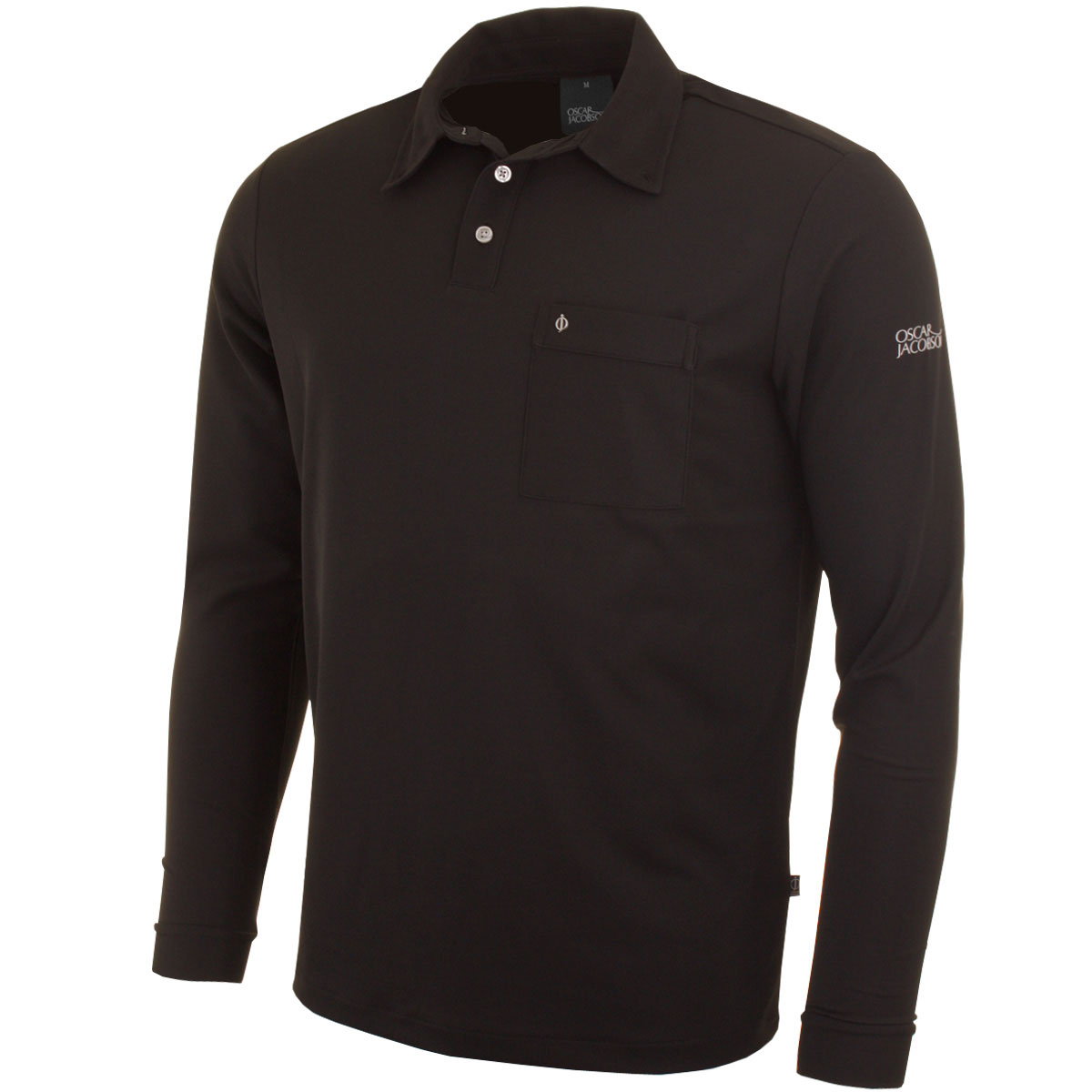 Oscar Jacobson Mens Jasper Long Sleeve Golf Polo Shirt Ebay