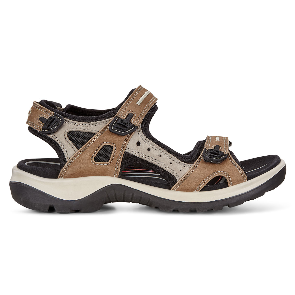 Ecco 2019 Womens Offroad Adjustable Stretch Nubuck Leather Durable Sandals
