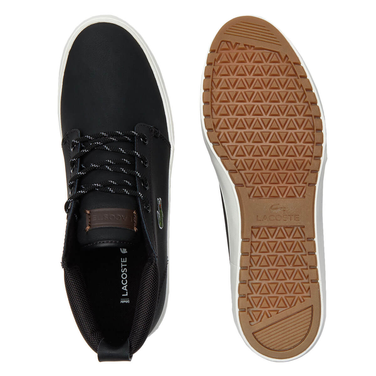 Lacoste Mens Ampthill Terra 319 1 CMA Durable Nappa Leather Trainers