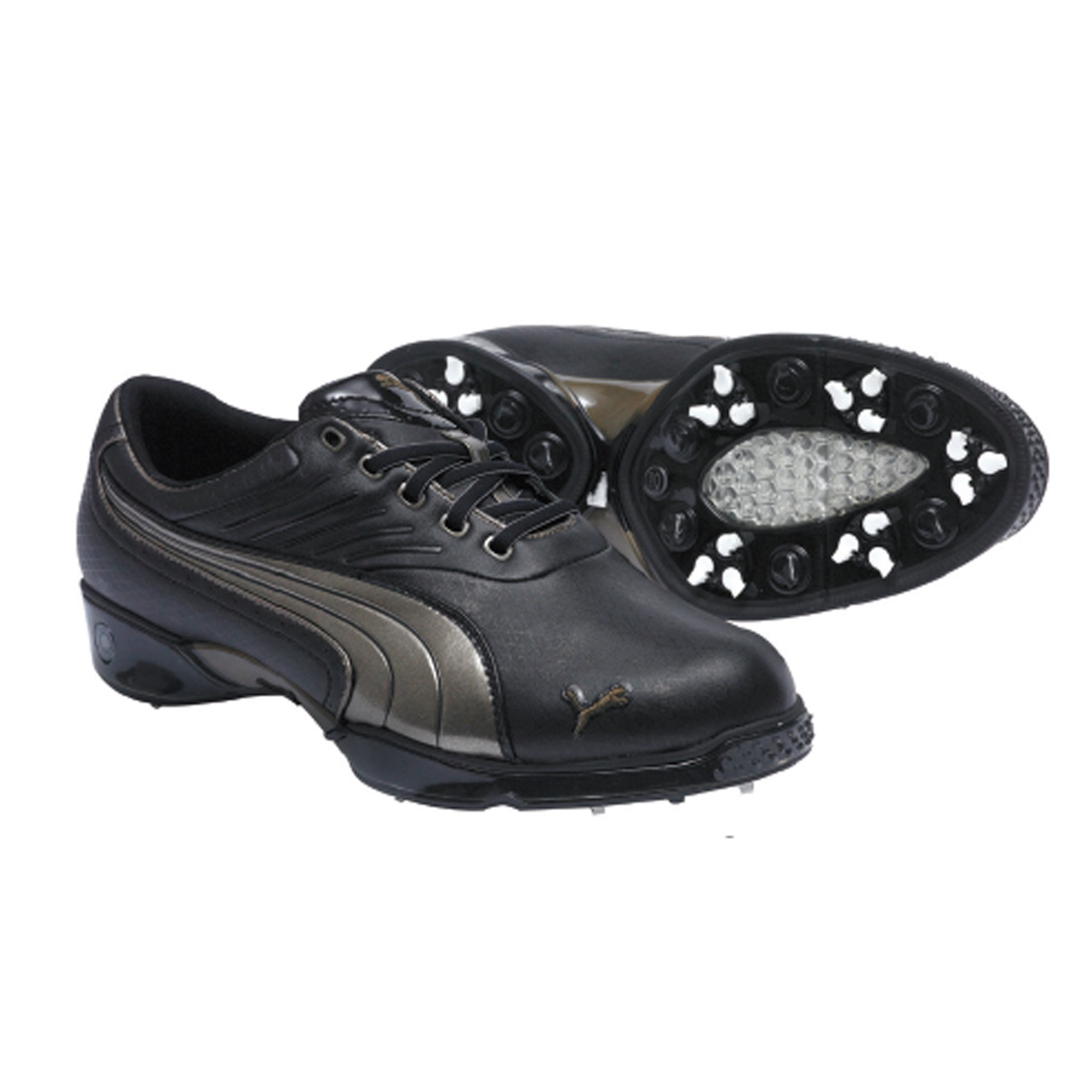 Puma-Mens-Cell-Fusion-Argyle-Golf-Shoes-Black-Bronze