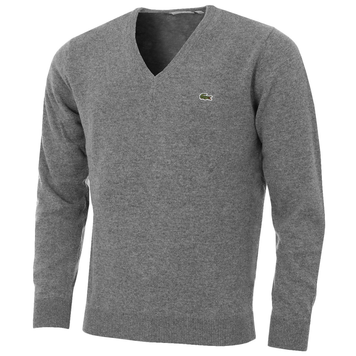 lacoste mens ah3003 wool v neck sweater pullover jersey vn jumper ebay. Black Bedroom Furniture Sets. Home Design Ideas