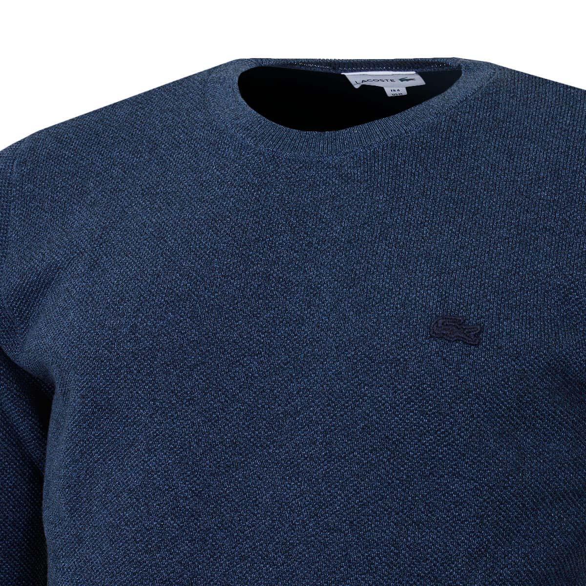 Lacoste Mens 2020 Crew Neck Cotton Pique Crocodile Tonal Sweater 26/% OFF RRP