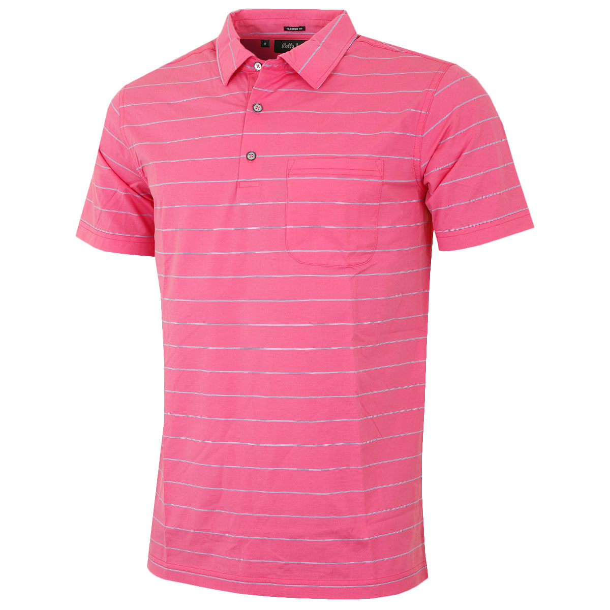 bobby jones 2016 mens billy stripe with pocket golf polo