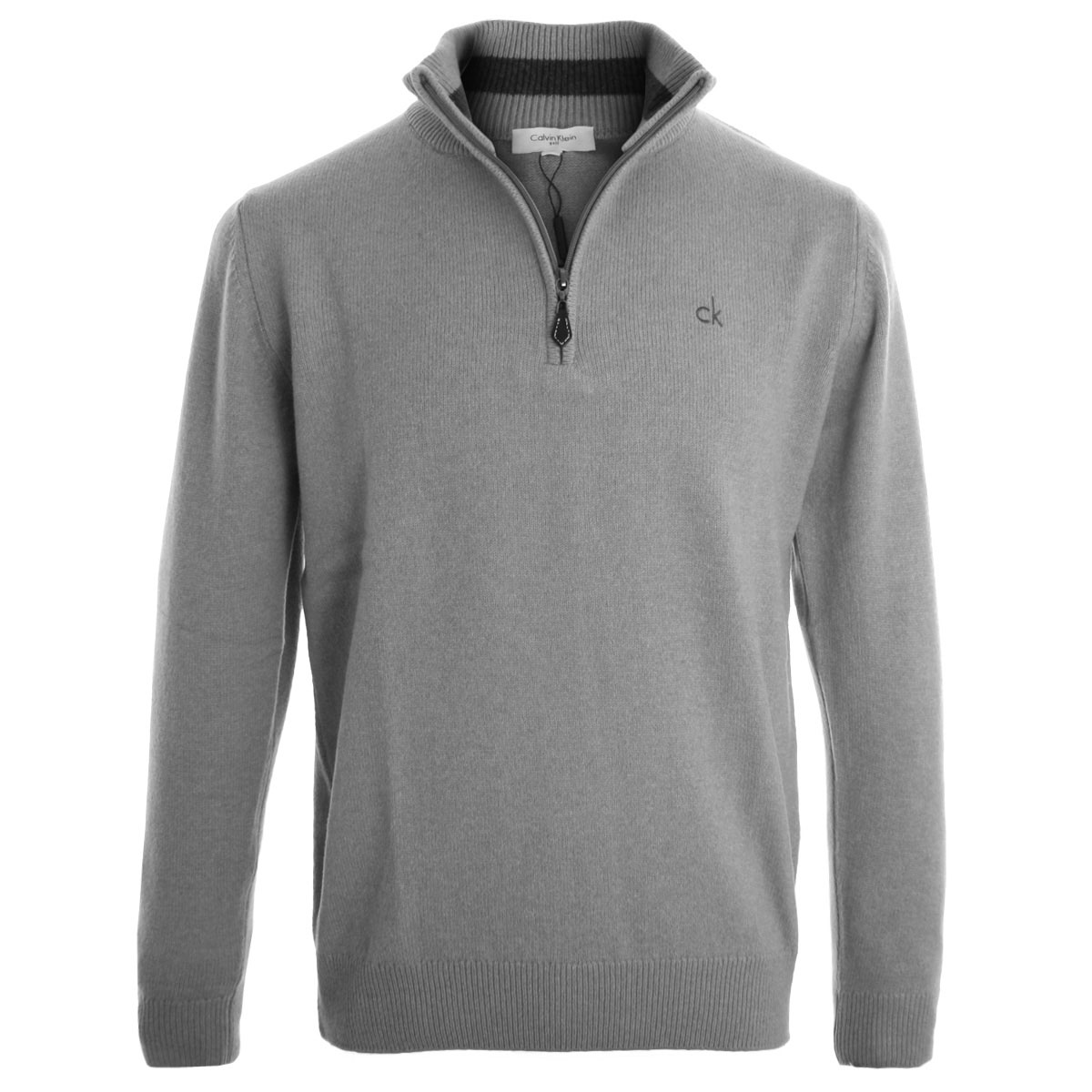calvin klein 2014 mens ck 1 4 zip neck superwool jumper golf pullover sweater ebay. Black Bedroom Furniture Sets. Home Design Ideas