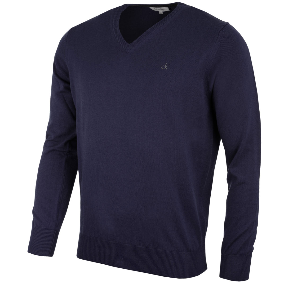 calvin klein golf mens ck v neck sweater cotton blend pullover ebay. Black Bedroom Furniture Sets. Home Design Ideas