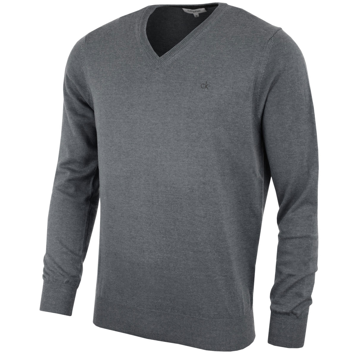 calvin klein golf mens ck v neck sweater cotton blend pullover jumper top ebay. Black Bedroom Furniture Sets. Home Design Ideas