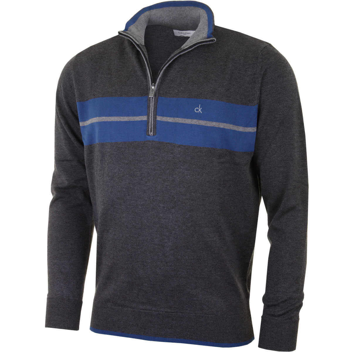 calvin klein golf 2016 mens ck vertex half zip neck sweater pullover top ebay. Black Bedroom Furniture Sets. Home Design Ideas
