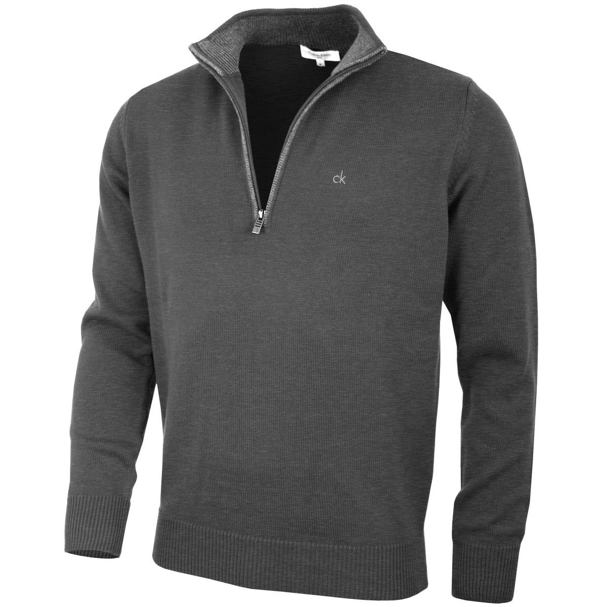 Calvin Klein Golf Mens Chunky Cotton Sweater C9187 CK Half Zip ...
