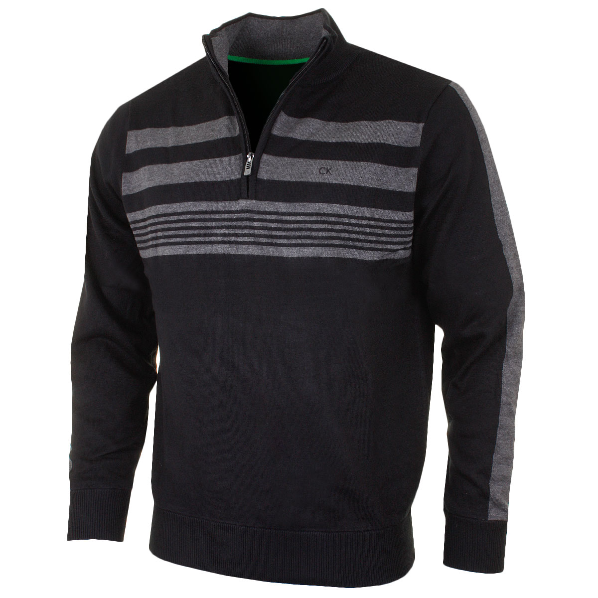 calvin klein golf 2016 mens ck stripeblock lined sweater. Black Bedroom Furniture Sets. Home Design Ideas