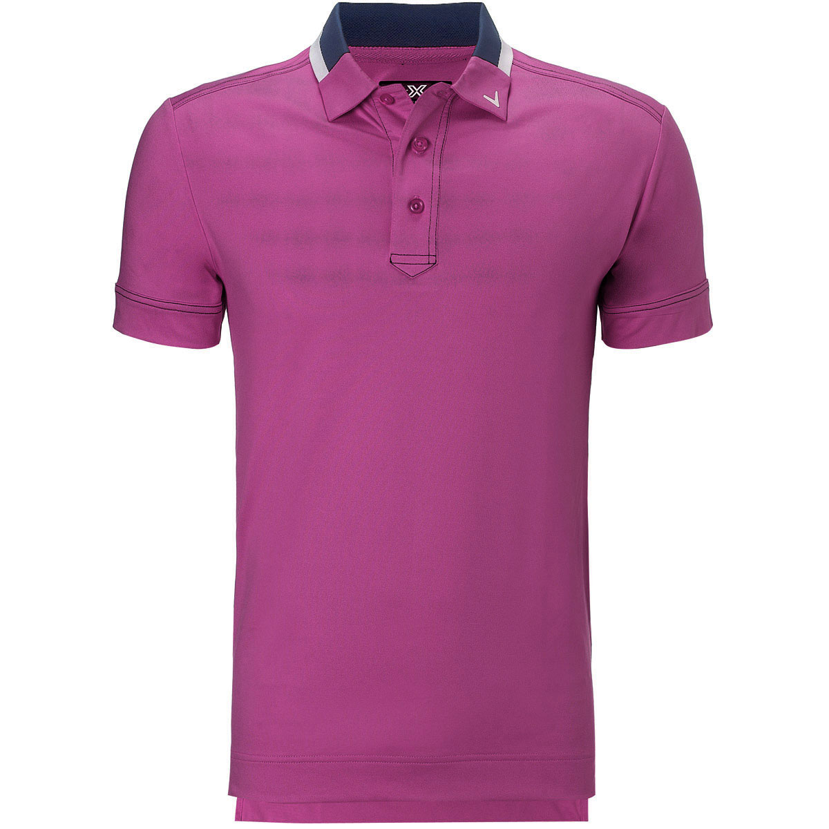 Callaway golf mens x range contrast collar slim fit polo for Mens xs golf shirts