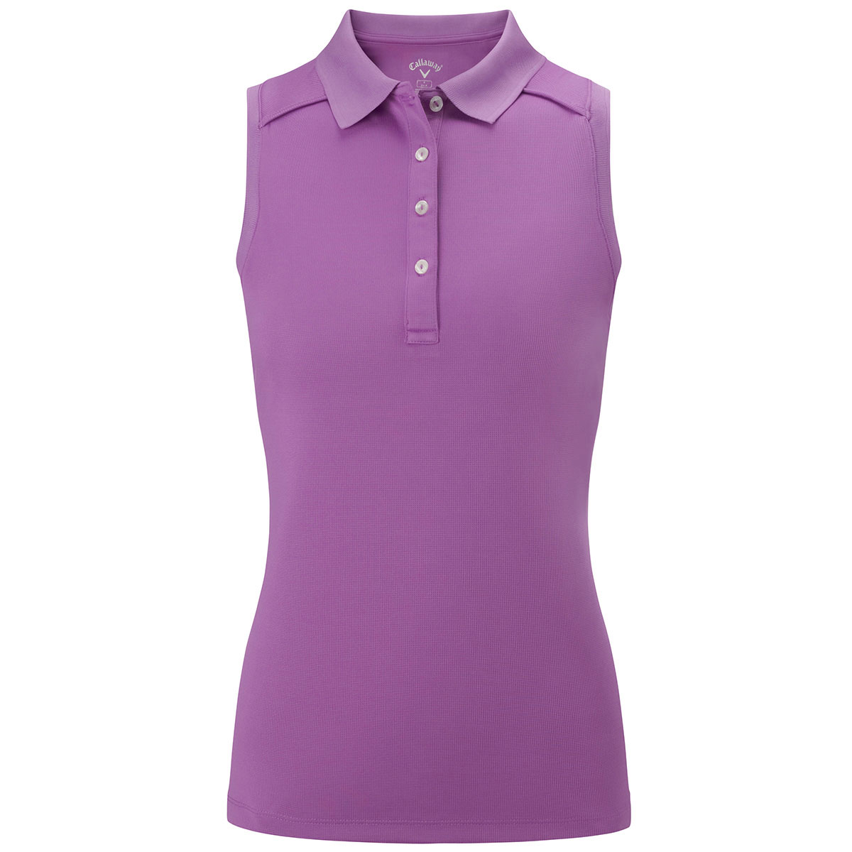 Callaway golf womens opti dri solid double knit sleeveless for Ladies sleeveless golf polo shirts