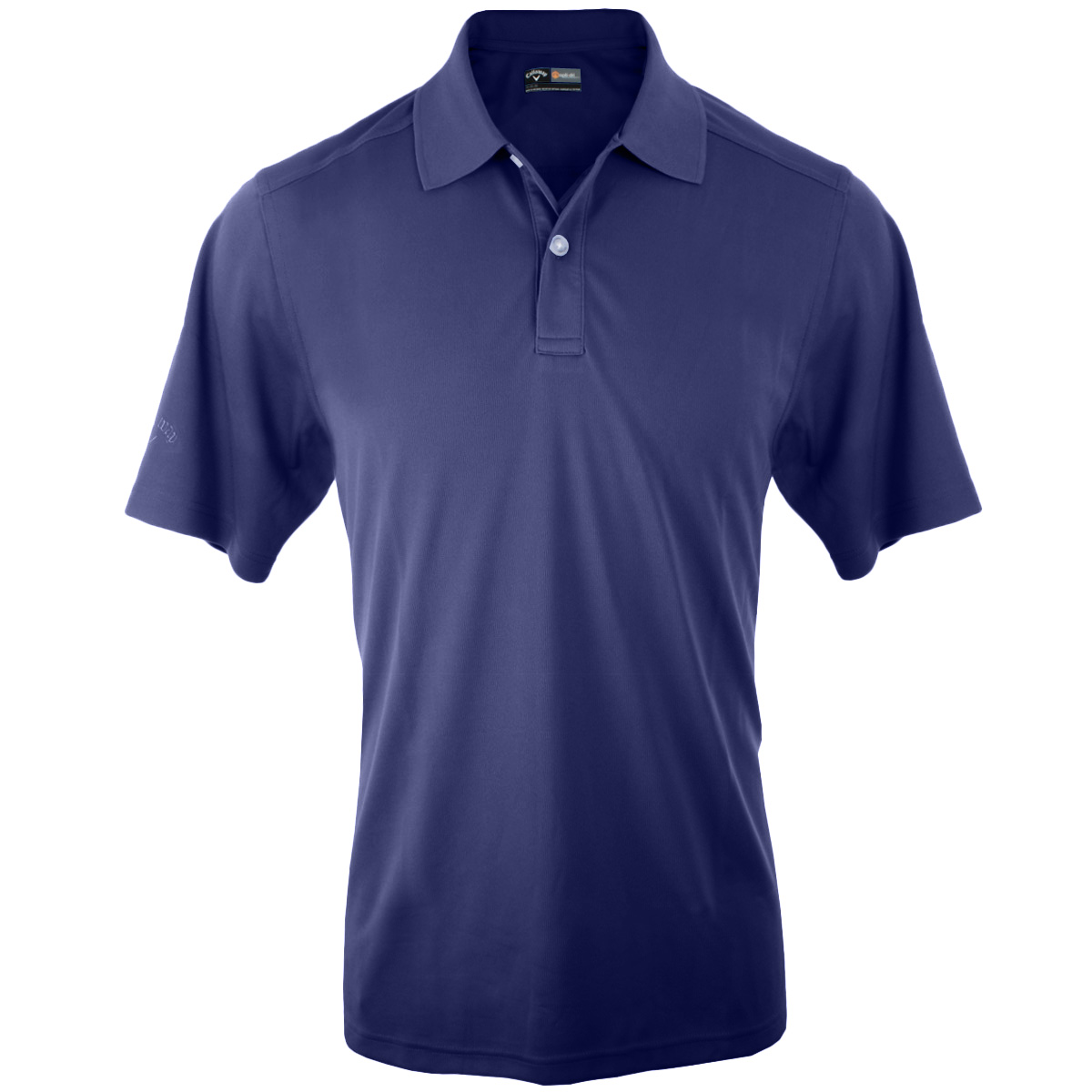 Callaway golf mens opti dri poly emblem textured polo for Polo golf shirts for men