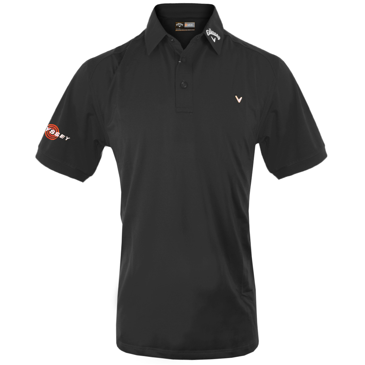Callaway golf 2015 mens stretch solid ventilated tour for Polo shirts with logos