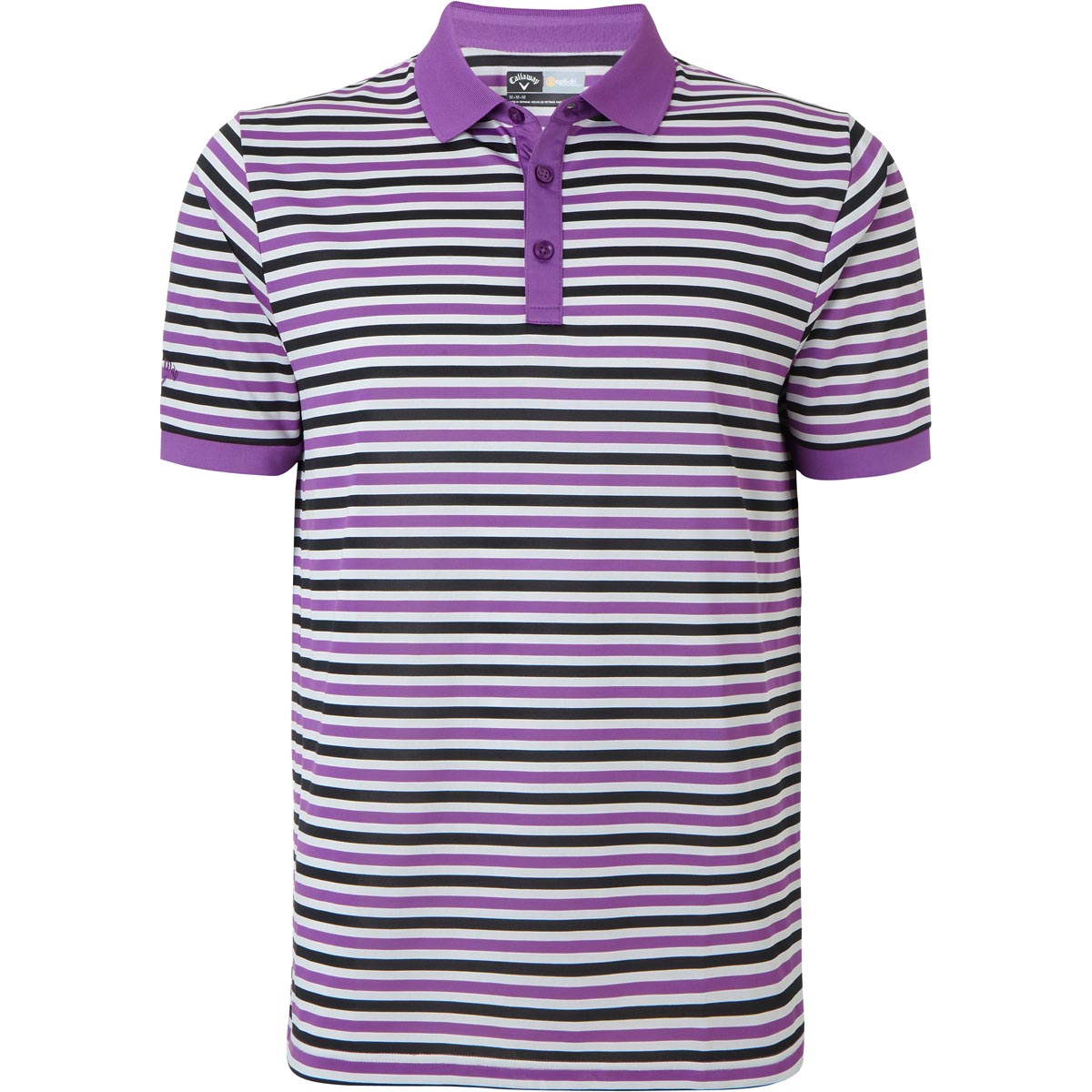 Callaway golf mens core chev striped performance polo for Polo golf performance shirt