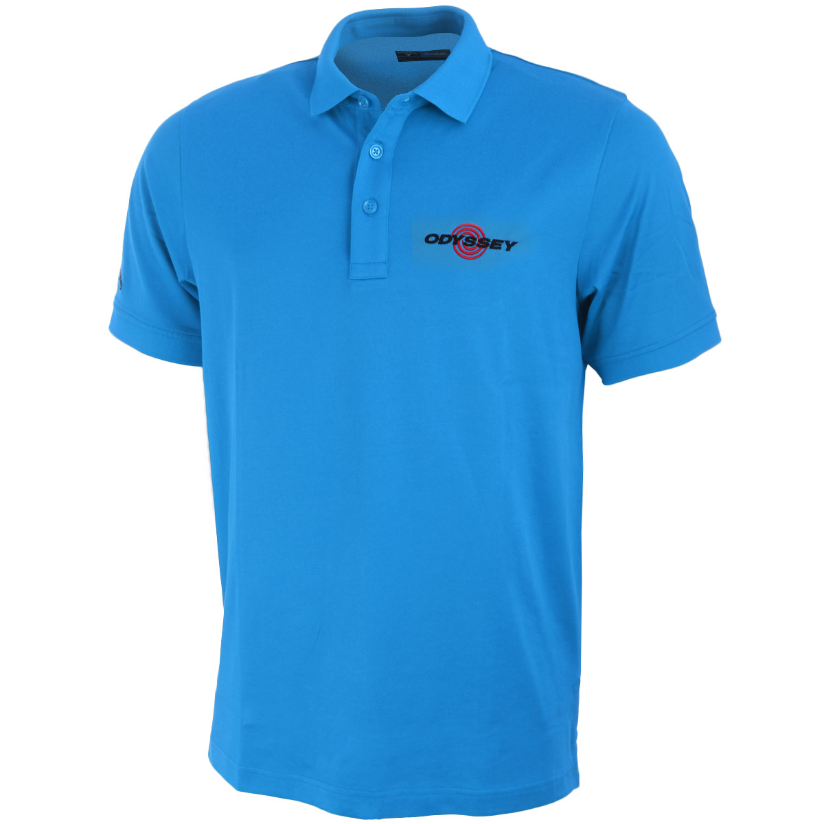 Callaway golf mens solid cotton odyssey tour logo polo for Cotton polo shirts with logo