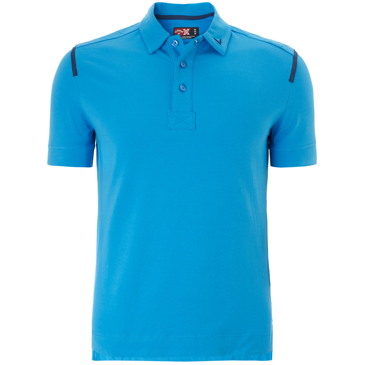 Callaway golf 2016 mens x range x cotton opti stretch slim for Mens slim polo shirts