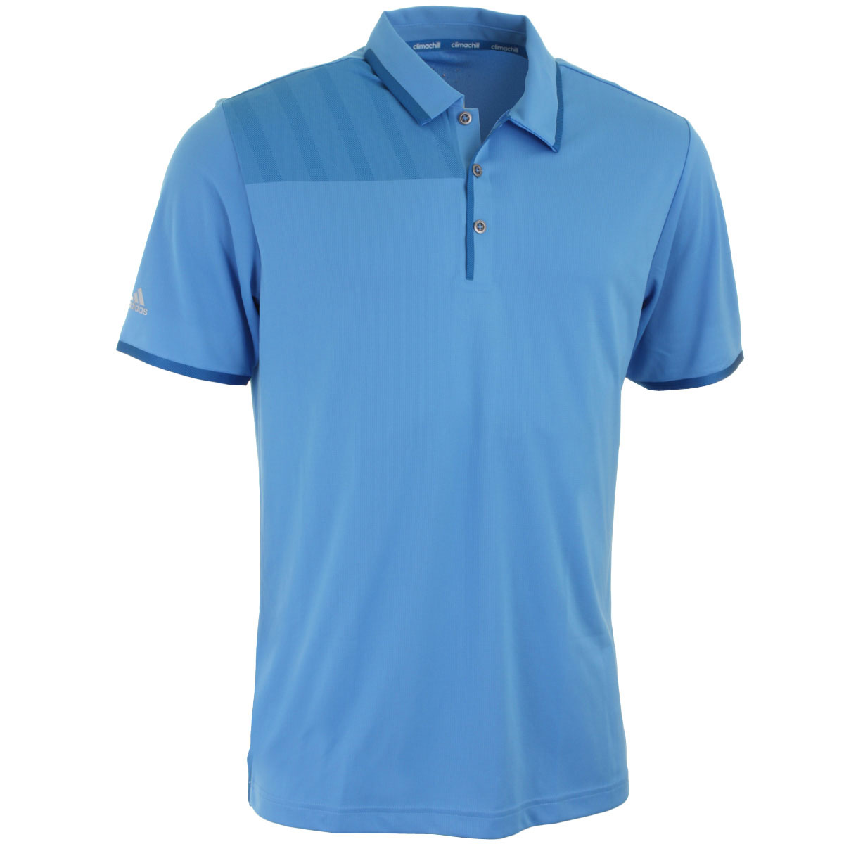Adidas golf mens climachill bonded print polo shirt for Polo shirts for printing
