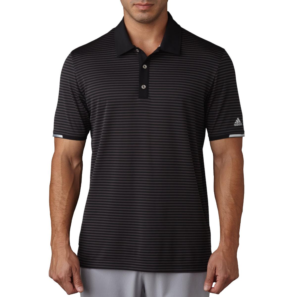 Adidas golf 2017 mens climachill tonal stripe polo shirt for Stretch polo shirt mens