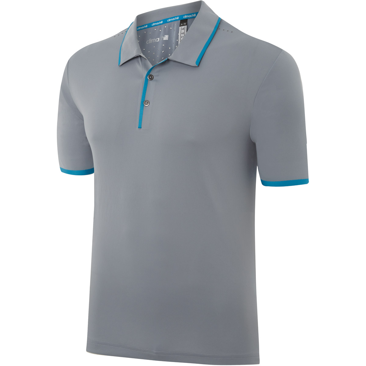 Adidas golf mens climachill bonded solid polo shirt for Cool mens polo shirts