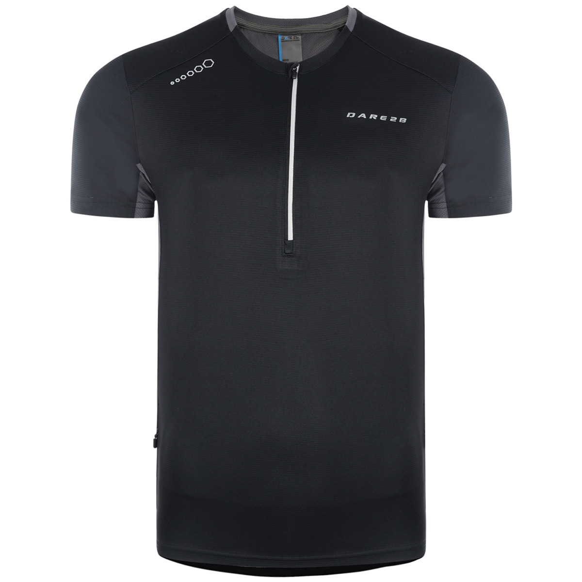 Dare 2b Mens Attest Lightweight 1//2 Zip Reflective Cycle Jersey 52/% OFF RRP
