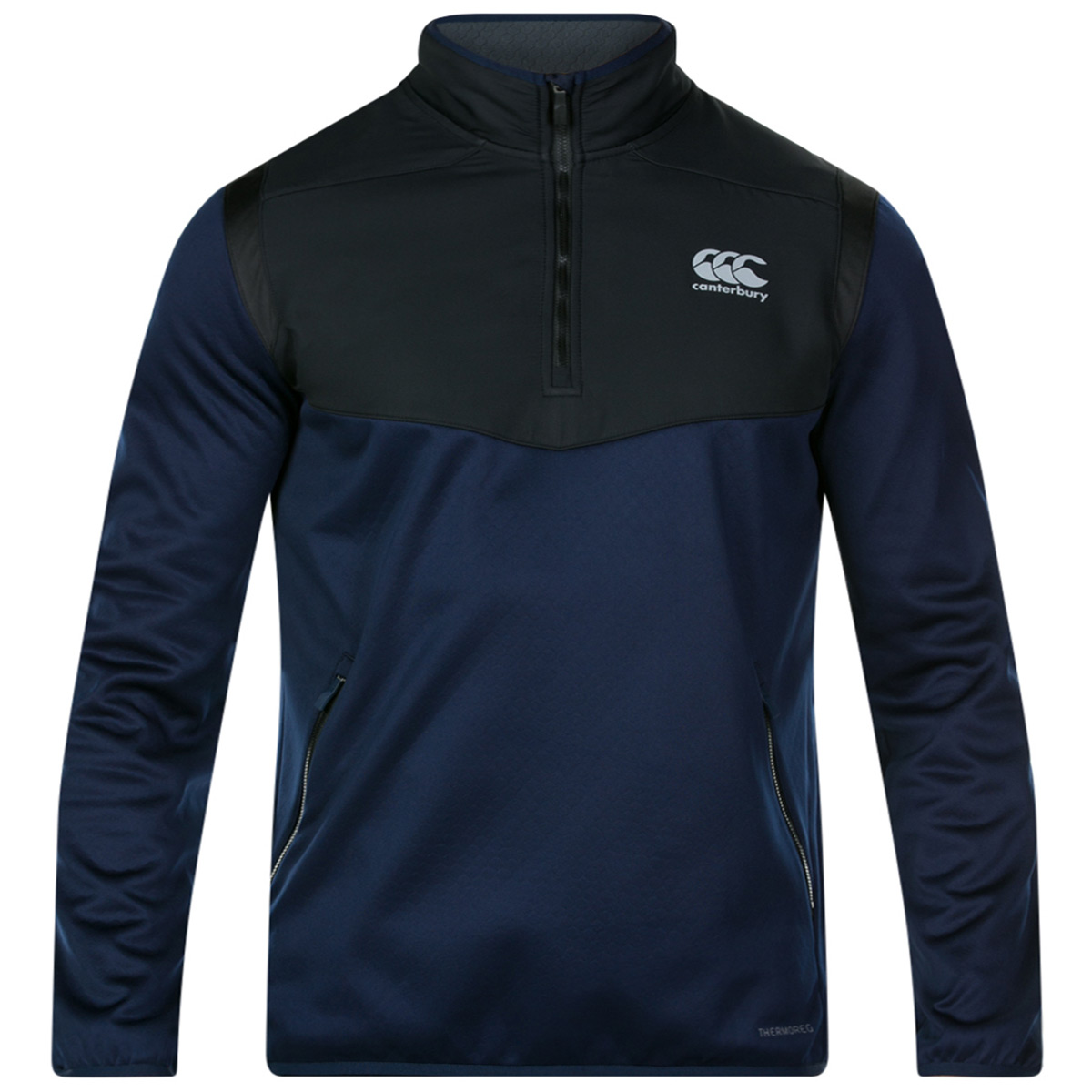 Canterbury Mens Thermoreg 1//4 Zip Running Fleece Sweater Top 29/% OFF RRP