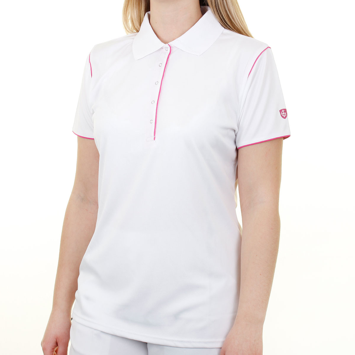 Island green 2016 ladies iglts1485 contrast performance for Golf polo shirts for women
